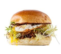 Egg, Frisée, and Caramelized Onion Sandwich | Is your lunchtime sandwich routinegetting a little stale? Turn to these fresh and tasty sandwich ideas for a handheld meal that won't leave you bored (or hungry).