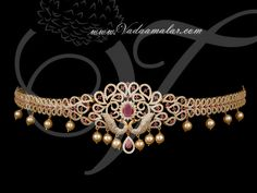 Micro gold plated Peacock design waist belts called as oddiyanam. Gold Earrings Designs, Gold Jewellery Design, Vanki Designs Jewellery, Cz Jewellery, Rose Gold Jewelry, Wedding Jewelry, Ruby Jewelry, Chain Jewelry, Waist Jewelry