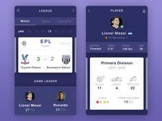 Soccer Player Profile by Balaji G #Design Popular #Dribbble #shots