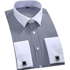 Special offer Fashion Brand Stripe Men Dress Shirts Long Sleeve Cotton Slim Fit French Cuff 2017 New Plus Size Casual Male Social Dress Shirt just only $13.73 with free shipping worldwide  #shirtsformen Plese click on picture to see our special price for you
