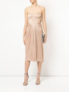 Shop online pink Maria Lucia Hohan gathered pleated design dress as well as new season, new arrivals daily. Nice Dresses, Formal Dresses, Amazing Dresses, Rose Pale, Silhouette, Pink Silk, Red Carpet Fashion, Designer Dresses, Strapless Dress