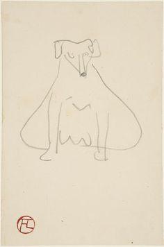 Henri de Toulouse-Lautrec, Seated Dog, 1898, Harvard Art Museums/Fogg Museum.