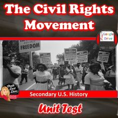The Civil Rights Movement | TEST | Common-Core | Editable | Print & Google Form History Class, Teaching History, Us History, Letter From Birmingham, Civil Rights Lawyer, Chalk Talk, Civil Rights Movement, Teaching Strategies, Civilization