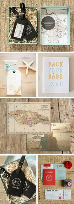 Destination wedding save the dates - love these ideas!