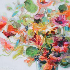 originals - ERIN GREGORY Abstract Flowers, Colorful Flowers, Abstract Art, Erin Gregory, Paintings I Love, Floral Paintings, Painting & Drawing, Flower Art, Fine Art