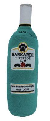 Bacardi Rum Inspired Plush Dog Squeaker Toy