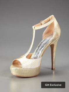 Another perfect shoe. Metallic and t-strap