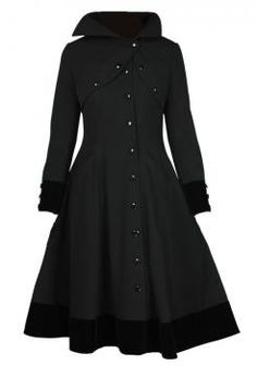 Film Noir Trenchcoat from GoodGoth.com - I would love to have this coat! Fantastic styling.