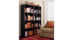 "Shift Black 74"" Bookcase | Crate and Barrel"