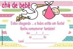 Convite chá de bebê para imprimir