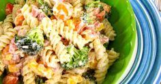 Cette succulente salade de pâte est parfaite pour la boite à lunch. Elle contient tout ce dont vous avez besoin pour facilement tenir jusqu'au prochain repas. Ingrédients 1 tasse de yogourt grec 1/4 tasse de miracle whip 1 vinaigrette ranch ( assai