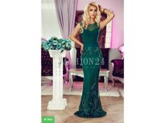Rochie lunga verde cu broderie florala Shayla Prom Dresses, Formal Dresses, Muse, Mermaid, Floral, Fashion, Green, Embroidery, Dresses For Formal