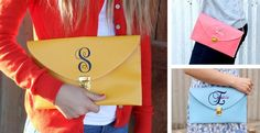 Embroidered Messenger Clutch