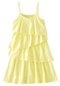 Yellow Tiered Tank Dress #FabKids https://www.fabkids.com/shop?category=all_medium=Pinterest_source=PinProduct_campaign=SummerFun_051513v #FabKidsSummerFun