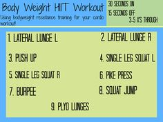 Body Weight HIIT Workout via YourTrainerPaige.com #Fitfluential #Move