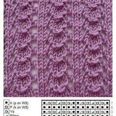 bf 82 22 s-media-… - lochmuster sitricken Lace Knitting Patterns, Knitting Stiches, Knitting Charts, Lace Patterns, Easy Knitting, Loom Knitting, Knitting Designs, Knitting Needles, Knitting Socks