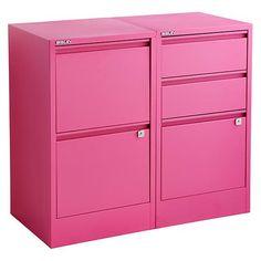 bisley pink 2 u0026 3drawer locking filing cabinets