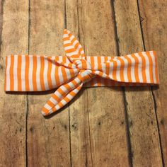 Orange Baby Girl Knot Headband - Baby Headwrap - Baby Tie Knot Head Wrap - Turban Headband - Fabric Baby Headband by BBgiftsandmore on Etsy
