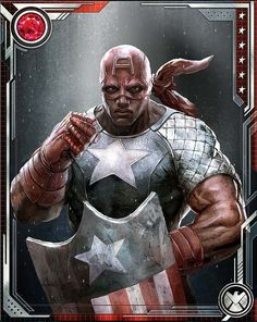 "superheroesincolor: ""Captain America, Isaiah Bradley // Marvel Comics, Marvel: War of Heroes Isaiah Bradley was one of 300 African-American soldiers subjected to clandestine experimentation with a..."