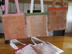 Bags made of used rooibos tea bags.