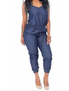 0276a449b7ba Sleeveless Backless One-piece Jumpsuit