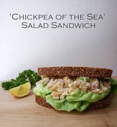 THE SIMPLE VEGANISTA: 'Chickpea of the Sea' Salad Sandwich - made this and it's a keeper! - Reichel