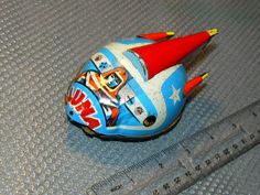 60's Vintage Retro Russian Soviet Tin Space Toy Friction Moon Car Luna
