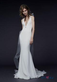 suknia ślubna Vera Wang z dekoltem #polkipl