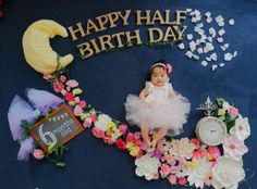 New Baby Pictures, Cute Baby Girl Images, Baby Girl Photos, Baby Photography Poses, Baby Shower Photography, New Baby Girl Quotes, Half Birthday Baby, Toddler Milestones, Baby Shower Deco
