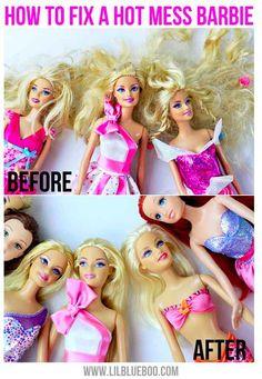 Detangle Barbie hair.