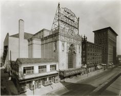 Facade and marquee of the Fox Theater, April 1929. Missouri History Museum