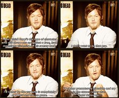 """Norman Reedus .. """"I don't want to be that guy."""" <3 He's just adorable!"""