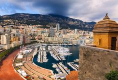 Principality of Monaco along the French Riviera