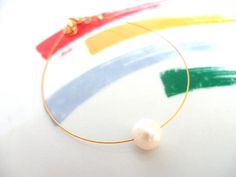 One Pearl Bracelet Real Freshwater Pearl Single Pearl Handmade Bracelets, Handmade Gifts, Pearl Bracelet, Fresh Water, Drop Earrings, Pearls, Trending Outfits, Unique Jewelry, Etsy