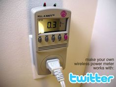 Tweet-a-watt - How to make a twittering power meter... This project documents my adventures in learning how to wire up my home for wireless power monitoring. I live...