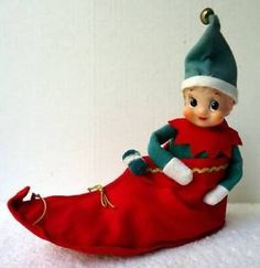 VINTAGE CHRISTMAS PIXIE ELF IN SHOE MADE JAPAN 1950'S MID CENTURY #F6  | eBay