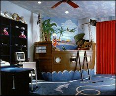 Decorating theme bedrooms - Maries Manor: pirate bedrooms - pirate themed furniture - nautical theme decorating ideas - Peter Pan
