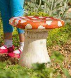Mushroom Stools for alice in wonderland playroom