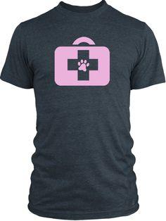 Big Texas Animal Doctor (Pink) Vintage Tri-Blend T-Shirt