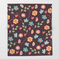 Floral art 2 Throw Blanket Throw Blankets, Print Design, Floral, Crafts, Art, Art Background, Manualidades, Flowers, Kunst
