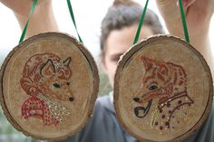 Embroidered Fox Couple by SewLovelyEmbroidery, via Flickr