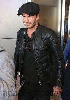 David Beckham Best Leather Jackets, Leather Jacket Outfits, Grey Suit Combinations, David Beckham Style, Rocker Look, Gentleman Style, Mode Style, Stylish Men, Urban Fashion
