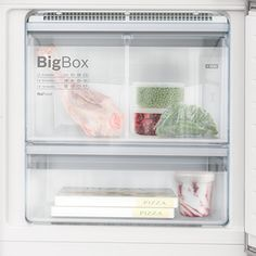 The new Bosch XXL fridge freezers are extra-large providing much more space and flexibility to store your food. Freezers, Stay Cool, Flexibility, Ice Cream, Space, Food, No Churn Ice Cream, Floor Space, Back Walkover
