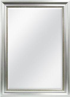 $60 MCS Silver Beaded Rectangular Wall Mirror, 30-Inch by 42-Inch MCS http://smile.amazon.com/dp/B00I3WZ9JO/ref=cm_sw_r_pi_dp_przLvb1ZEMMKJ
