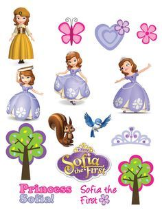 Free Printable Stickers ♥ Sofia the First ♥ Princess Sofia Princess Sofia Cake, Princess Sofia Birthday, Princess Sofia The First, Sofia The First Birthday Party, 3rd Birthday Parties, Princess Party, Tangled Birthday, Tangled Party, Tinkerbell Party