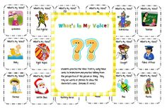 Classroom Freebies: What's My Voice?