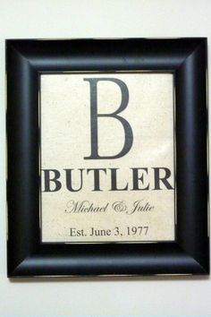 Personalized Name sign  Established date  by JulieButlerCreations, $32.50