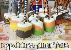 Dipped Marshmallow Treats... just in time for Halloween!