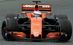 Download wallpapers Fernando Alonso, McLaren MCL32, Formula 1, McLaren, F1, racing car