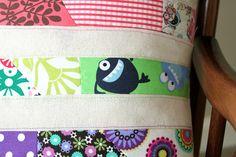 Sew Delicious: Scrap Bag Rainbow Cushion